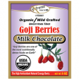 Organic Milk Chocolate Covered Tibetan Goji Berry