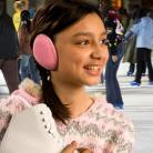 Pink Fleece Ear Mitts Bandless Ear Muffs